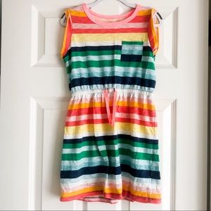 🌈 Gap Girls Medium Rainbow Stripe Dress - EUC